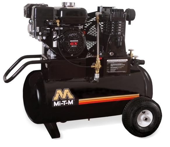 20 Gallon Portable (Gas) Air Compressors - Mi-T-M - AM1-PH65-20M