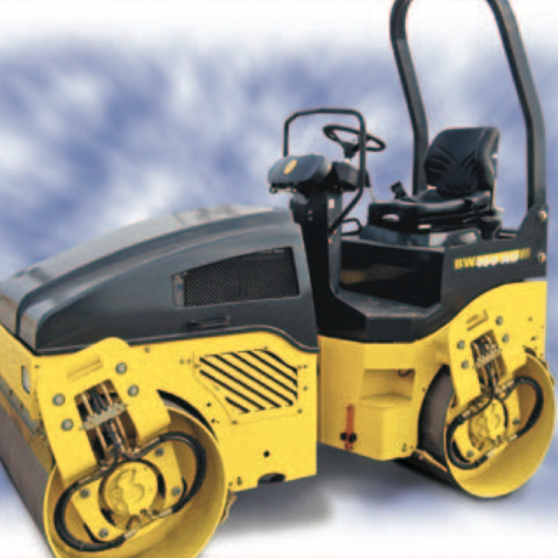 Tandem Ride On Roller Rental - Bomag  100 AD-4