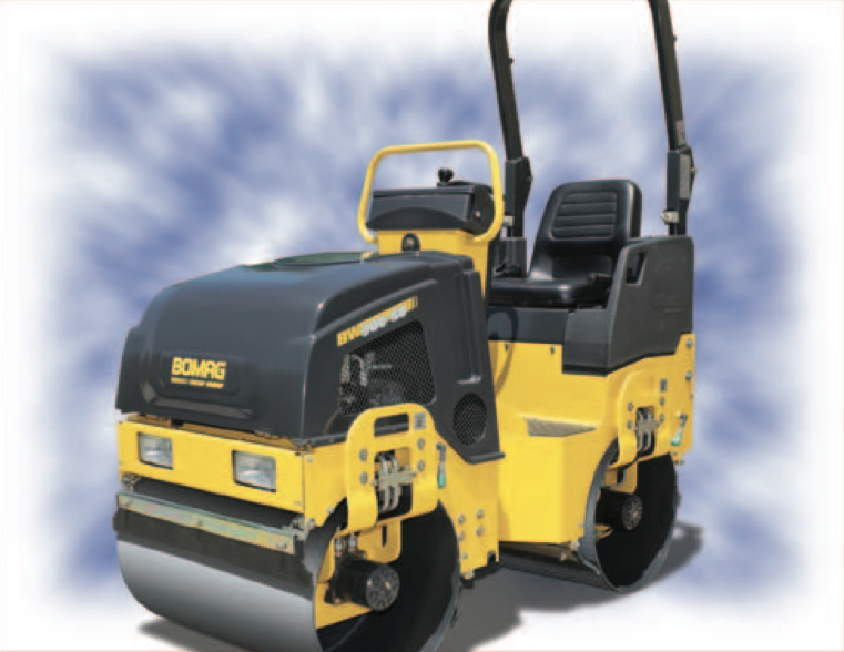 Tandem Ride On Roller Rental - Bomag 900-50