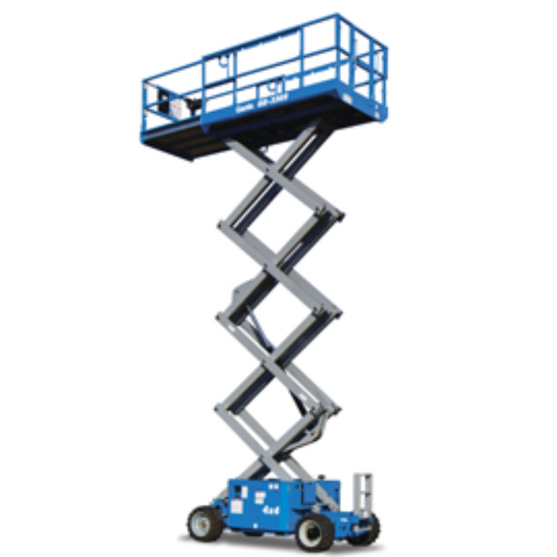 39 Foot Scissor Lift Rental - Rough-Terrain - Genie GS-3369 RT