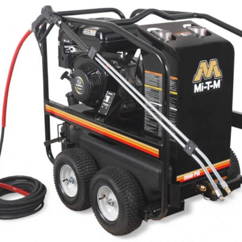 3,500 PSI Hot Water (Gas) Pressure Washer Rental Mi-T-M HSP-3504-3MGR -- Duke Rental Ithaca NY