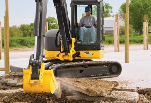 Compact Excavator Rental - John Deere 60D