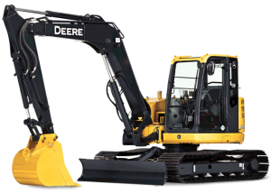 Compact Excavator Rental - John Deere 80D