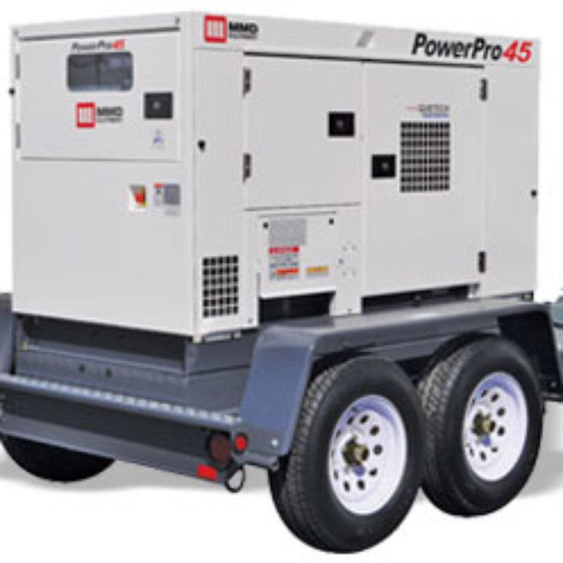 45kVA Towable Generator Rental - MMD PowerPro 45