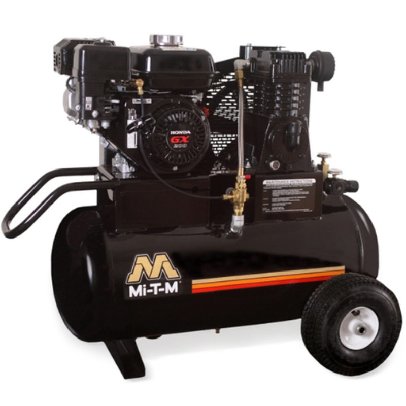 20 Gallon Portable (Gas) Air Compressor Rental - Mi-T-M - AM1-PH65-20M