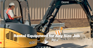 Rental Equipment Any Size job - Compact Excavator