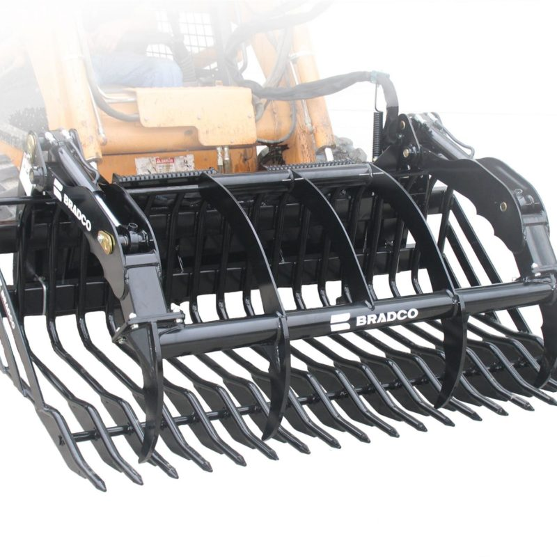 Paladin Industries Rock Bucket Rental and Grapple Attachments--Duke Equipment Rental