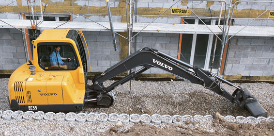 Compact Excavator Rental - Volvo EC55