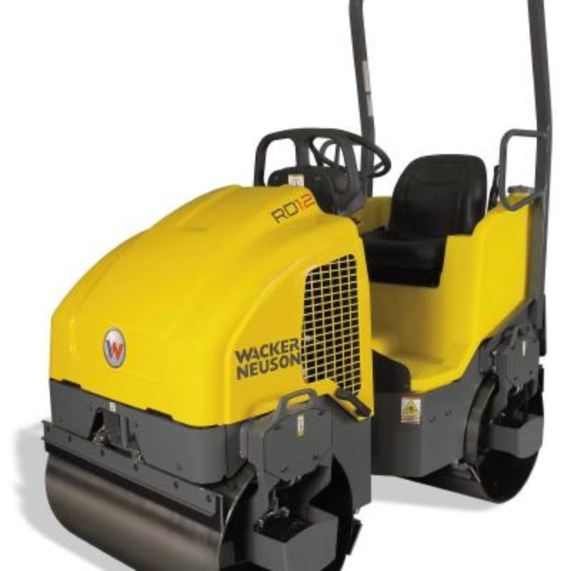34 Inch Double-Drum Smooth Drum Roller Rental - Wacker-Neuson - RD 12A-90
