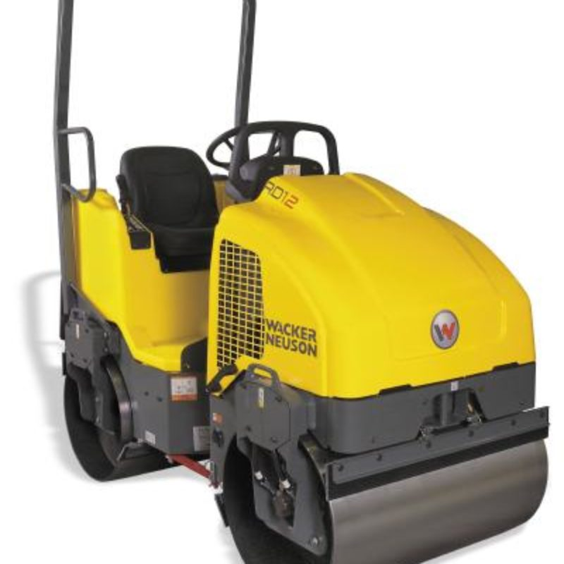 39 Inch Double-Drum Smooth Drum Roller Rental - Wacker-Neuson - RD-16-100