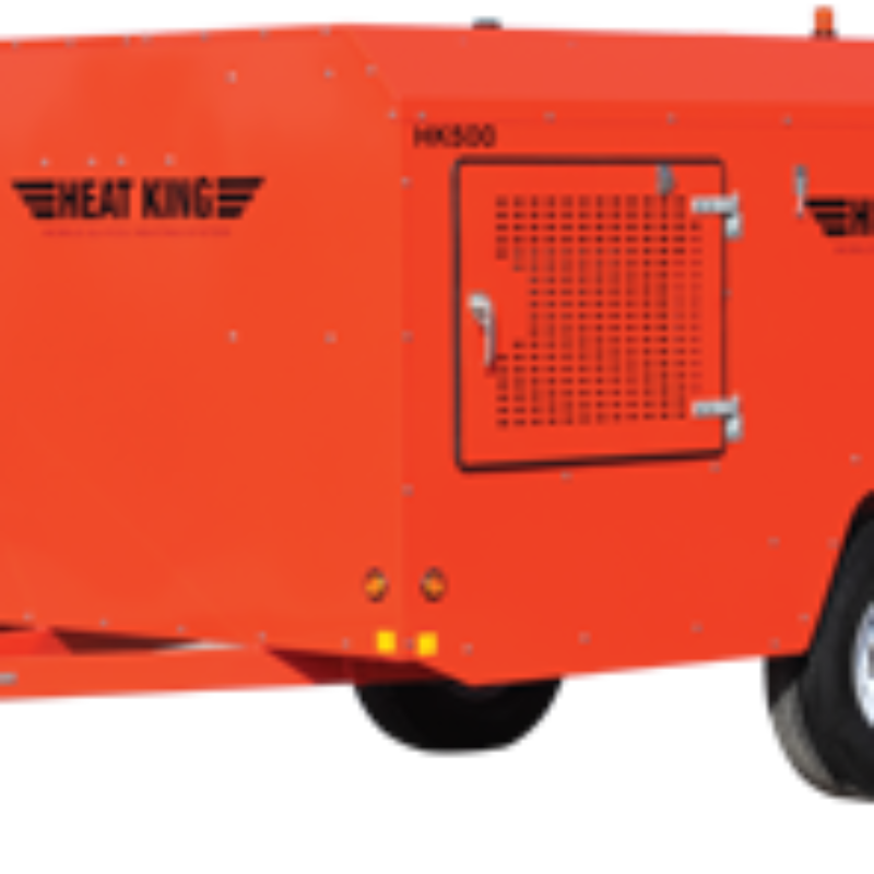 436,000 BTU Ground Thawing Heater Rental - HeatKing HK500