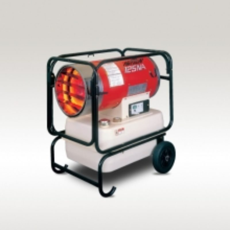 116,000 BTU Forced Air Space Heater Rental - Val6 Hotgun 125NA