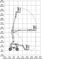 34 foot articulating boom lift rental jlg 340j. Black Bedroom Furniture Sets. Home Design Ideas