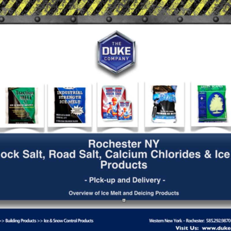 Rock Salt and Road Salt Distribution in Rochester