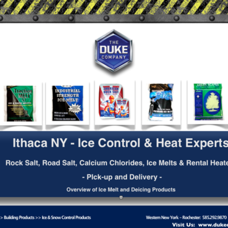Rock Salt Distribution in Ithaca NY