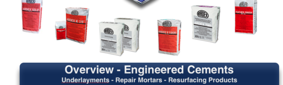 Top 6 Ardex Engineered Cement Products for Underlayments, Repair Mortars, Resurfacing Products