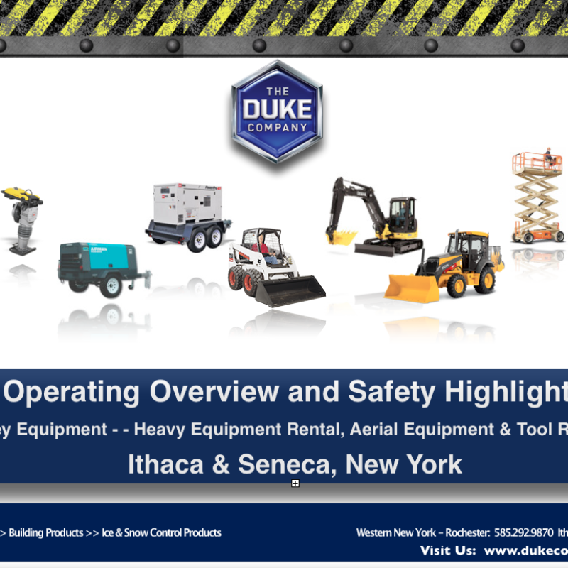 Ithaca NY - Top 9 Construction Equipment Rental Items - Operating and Safety Highlights