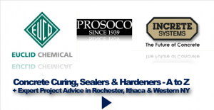 Concrete Curing, Sealers & Hardeners from A to Z + Expert Project Advice in Rochester, Ithaca & Western NY