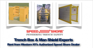 Rent Trench Box and Man Shields from Western NYs Authorized Speed Shore Dealer