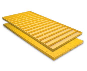 ADA Replaceable Wet Set Tile 2 Foot x 5 Foot Grey - ADA Solutions