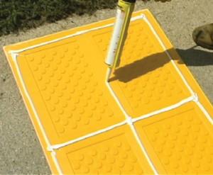 ADA Surface Mount Tile 2 Foot x 5 Foot Grey - ADA Solutions