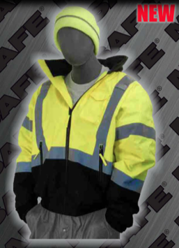 Safety Jackets - ANSI 107-2010 Class 3 3-in-1 Bomber Jacket with Black Bottom