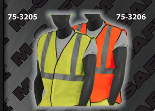 Safety Vests - ANSI Class 2 Vest - Heavy Duty Break Away Style