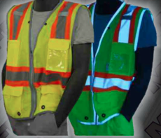 Safety Vests - ANSI Class 2 Vest with Pass Through