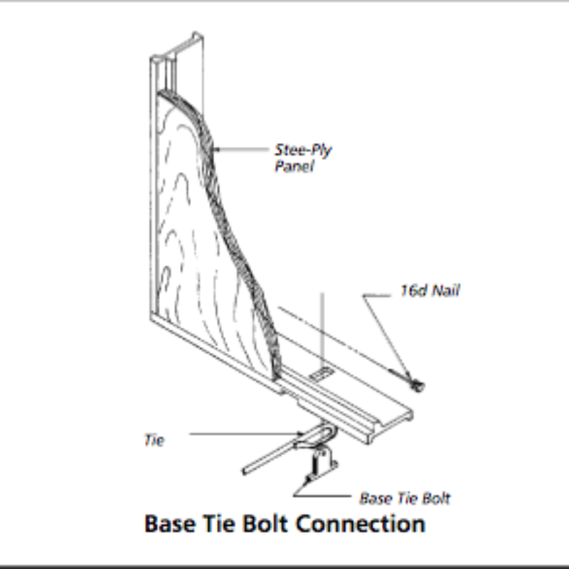 Base Tie Bolt Concrete Form Connecting Hardware by Symons