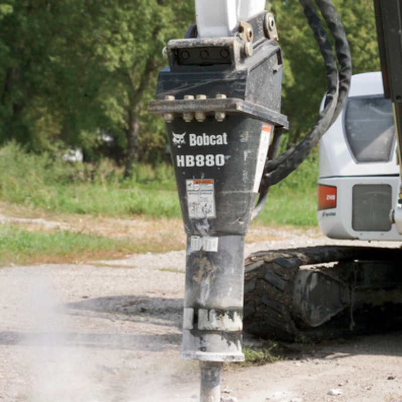 Hydraulic Breaker Attachment Rental for Bobcat Compact Excavators