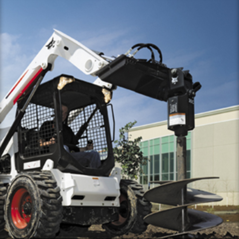 Auger Attachment Rental for Bobcat Compact Excavators