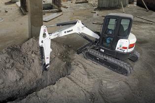 Picture of Bobcat E50 Zero Tail Swing Mini Excavator Rental
