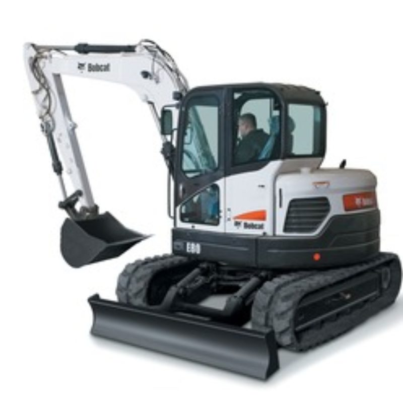 Mini Excavator Rental  - Bobcat E80