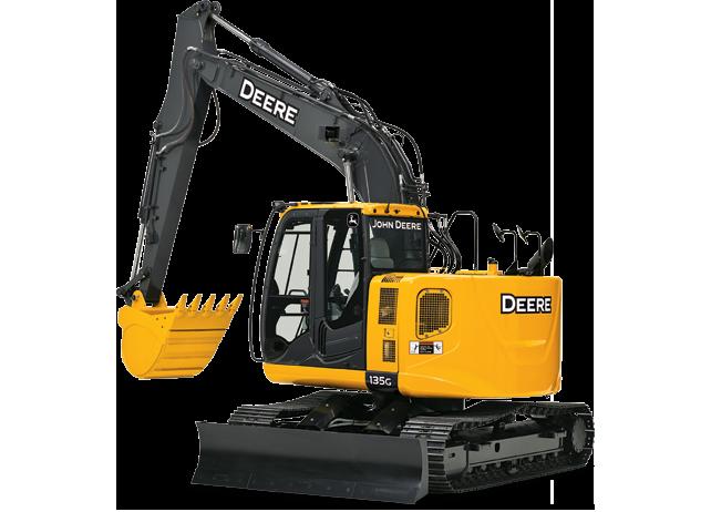 Picture of Excavator Rental - John Deere 135G