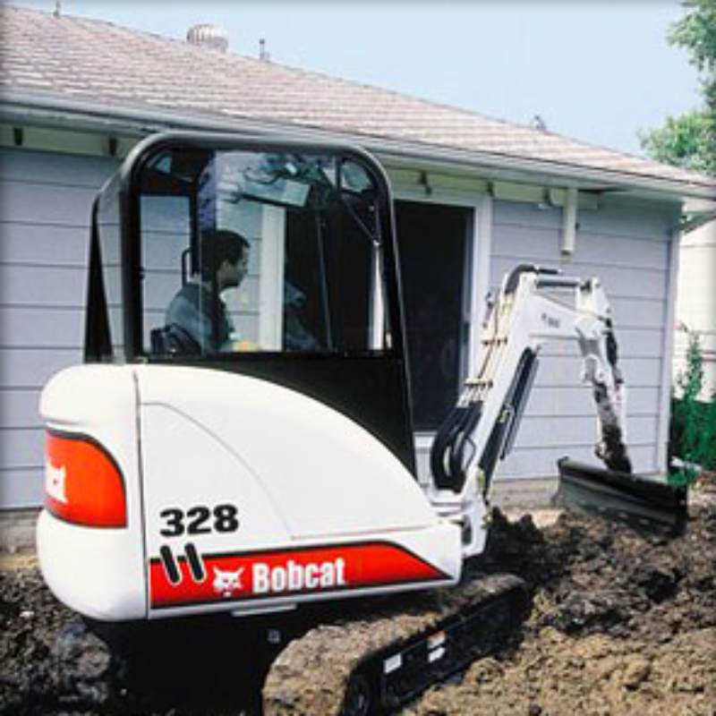 Grading Blade Attachment Rental for Bobcat Compact Excavators