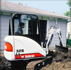 Picture of Grading Blade Attachment Rental for Bobcat Compact Excavators