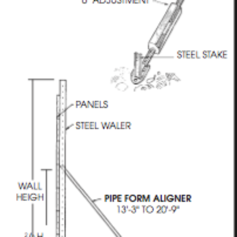 Alignment Tools for Concrete Forms by Symons Steel-Ply