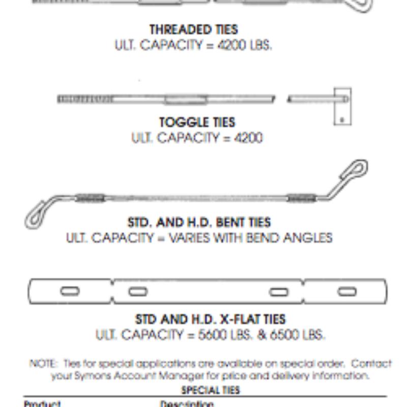 Concrete Form Ties - Symon Steel Ply