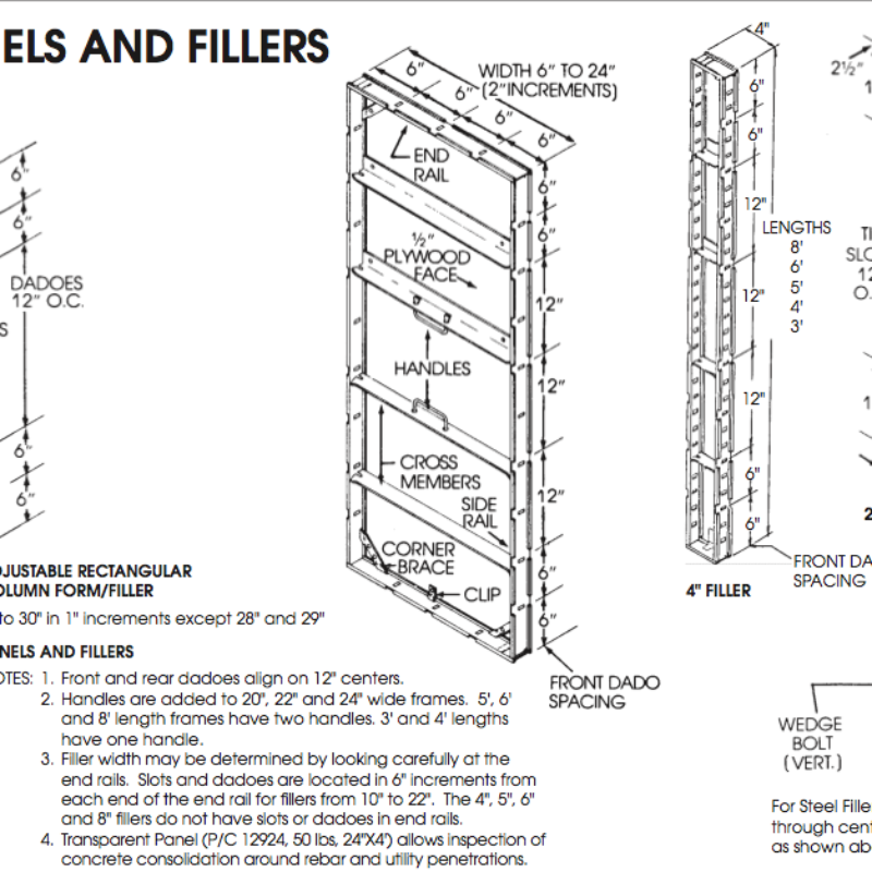 Concrete Forms - Panels and Fillers by Steel-Ply