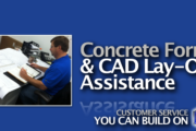 Picture of Concrete Form Layout and CAD Drawing in Rochester and Ithaca NY