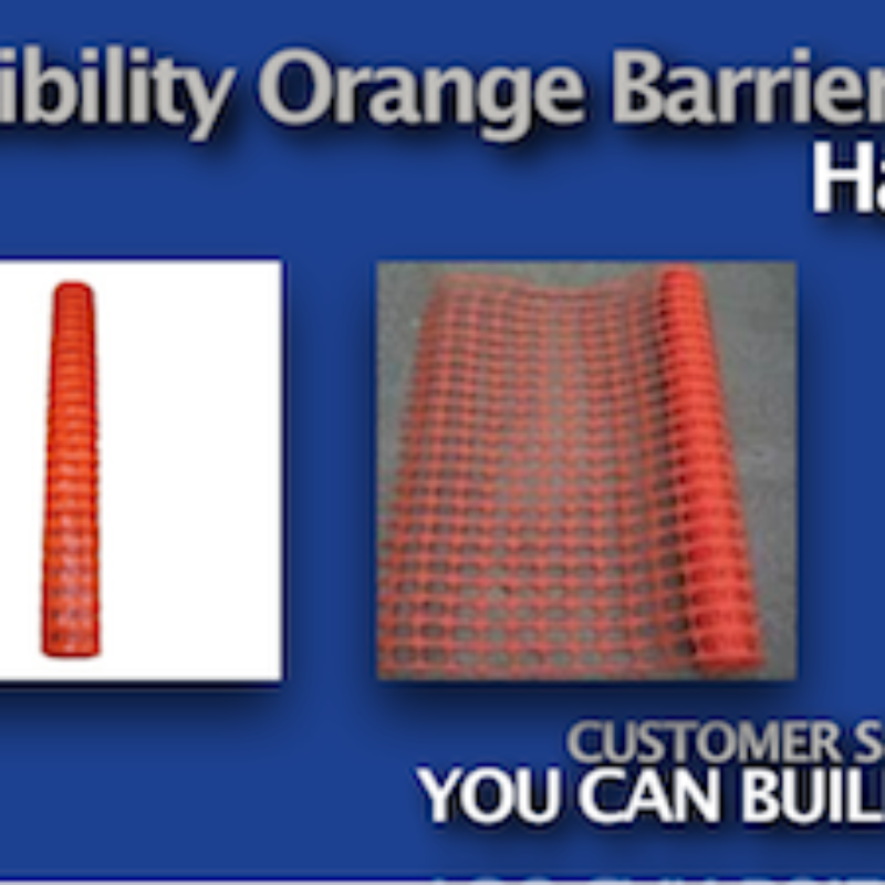 High Visibility Orange Barrier Fence by Hanes Geo