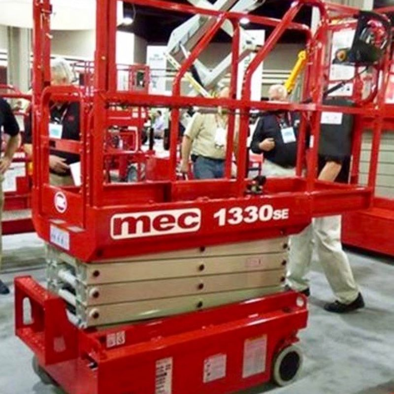 13 Foot Micro Electric Scissor Lift Rental - MEC 1330SE