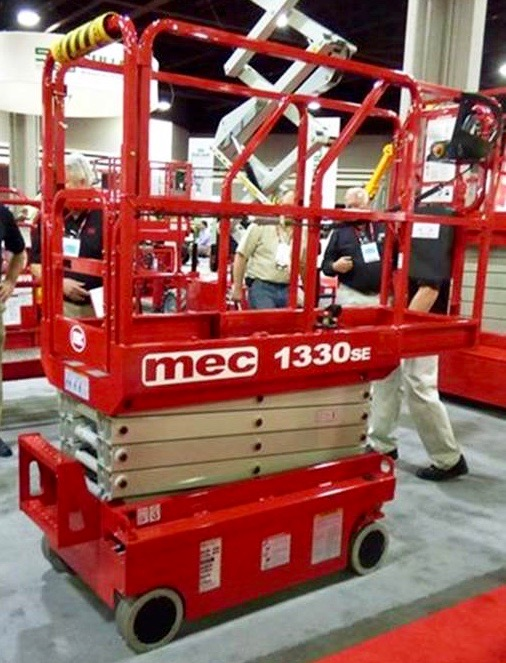 Automotive Lift Rentals : Foot micro electric scissor lift rental mec se
