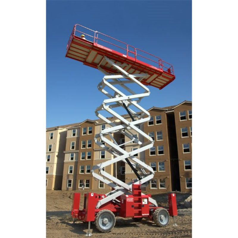 66 Foot Rough Terrain, Diesel-Powered, Scissor Lift Rental - MEC 6092RT