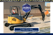 Compact Excavators - Operating Instructions and Highlights