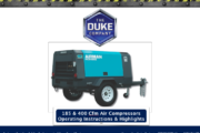 Towable Air Compressors - 185 Cfm and 400 Cfm