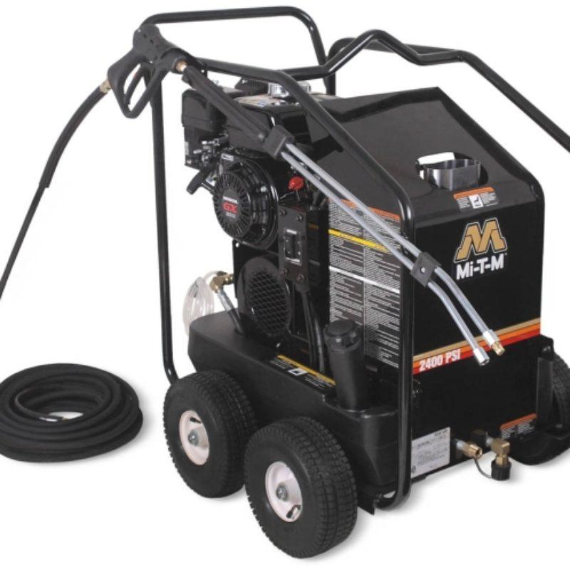 2,400 PSI Hot Water (Gas) Pressure Washer Rental - Mi-T-M - HSP-2403-3MGH