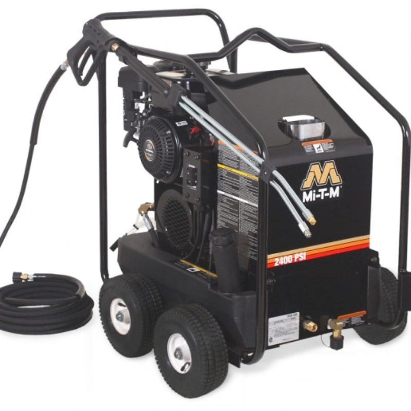 2,400 PSI Hot Water (Gas) Pressure Washer Rental - Mi-T-M - HSP-2403-3MGR