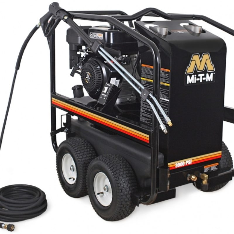 3,000 PSI Hot Water (Gas) Pressure Washer Rental - Mi-T-M - HSP-3003-3MGR