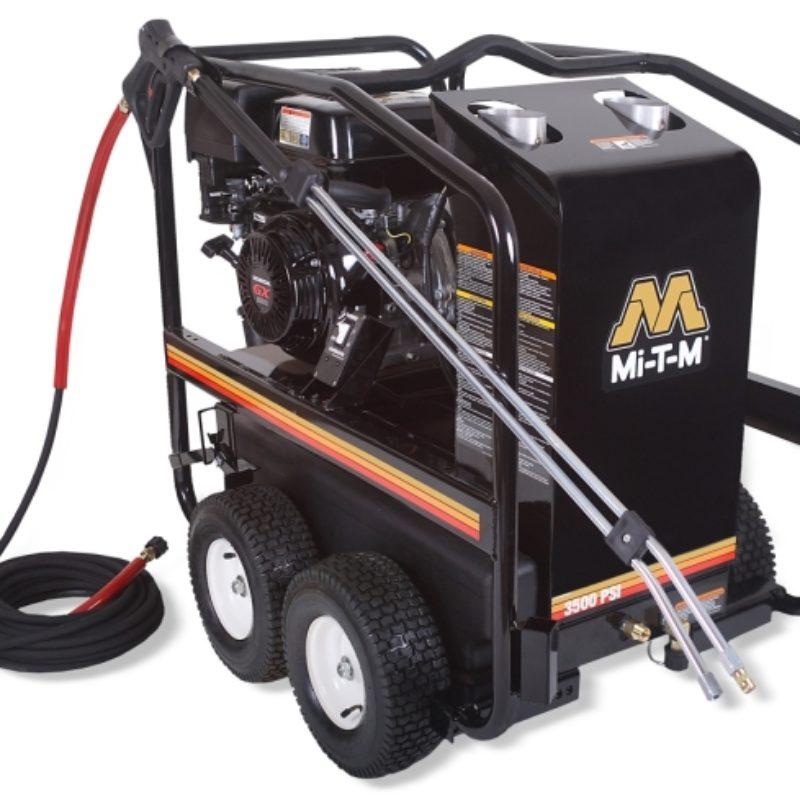 3,500 PSI Hot Water (Gas) Pressure Washer Rental- Mi-T-M - HSP-3504-3MGH